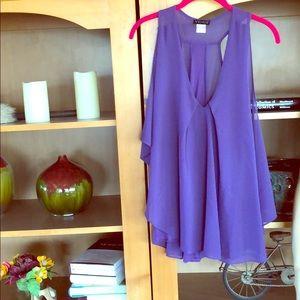 Flowing, sexy Venus blouse, L, purple